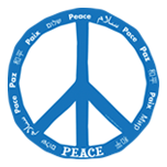 World Peace Mangnet - blue and white